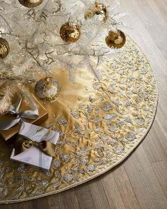 Sudha Pennathur Beaded Gold Tissue Tree Skirt
