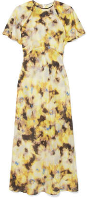 Georgia Alice - Acid Floral-print Cotton And Silk-blend Organza Midi Dress - Yellow