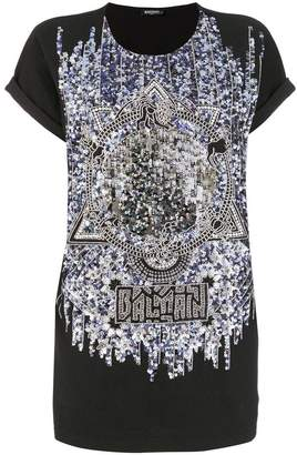 Balmain reflective pattern T-shirt