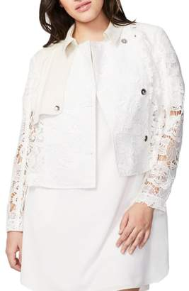 Rachel Roy RACHEL  Crop Lace Trench Jacket