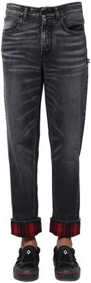 Marcelo Burlon County of Milan Cotton Denim Carrot Jeans W/ Check