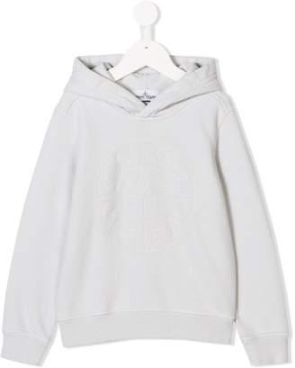 Stone Island Junior logo hoodie