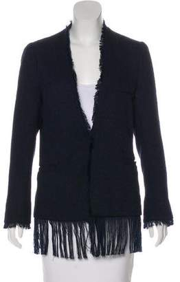 By Malene Birger Fringe-Trimmed Collarless Blazer