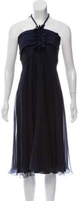 Max Mara Strapless Silk Cocktail Dress