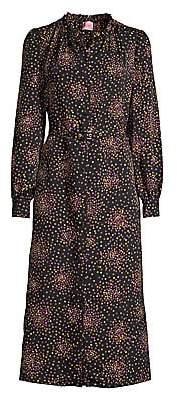 Kate Spade Women's Disco Dots Ruffled Shirtdress