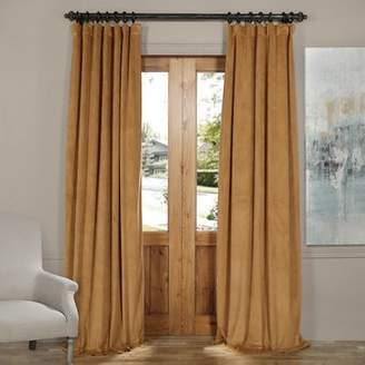 Willa Arlo Interiors Flores Solid Max Blackout Thermal Rod Pocket Single Curtain Panel