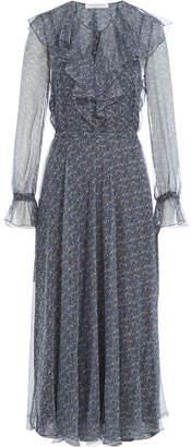 Philosophy di Lorenzo Serafini Printed Silk Chiffon Midi Dress