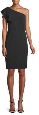 Karl Lagerfeld Ruffle One-Shoulder Dress