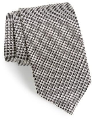 Men's David Donahue Grid Silk Tie $115 thestylecure.com