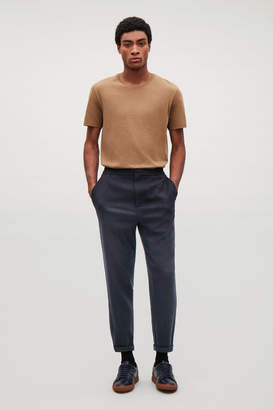 Cos WOOL CHINOS WITH ELASTIC WAIST