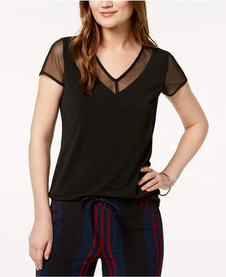 INC International Concepts I.n.c. V-Neck Illusion-Contrast T-Shirt, Created for Macy's
