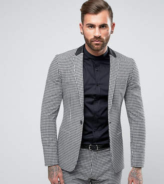 Religion Super Skinny Suit Jacket in Gingham