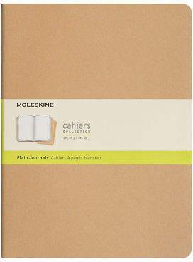 Moleskine NEW Cahier Extra Large Plain Journal Set 3pce Kraft