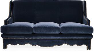 Bunny Williams Home Nailhead Sofa - Denim Velvet
