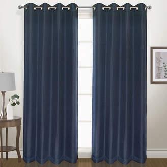 Co UNITED CURTAIN United Curtain Herringbone Grommet-Top Curtain Panel