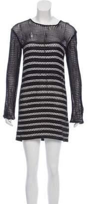 Magda Butrym Curitiba Leather-Trimmed Dress Black Curitiba Leather-Trimmed Dress
