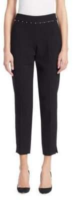 Emporio Armani Studded-Waist Pants
