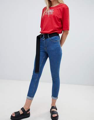 Cheap Monday super skinny high rise jean with raw hem