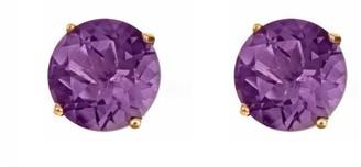 5mm Round Semi-Precious Gemstone Stud Earrings,14K Yellow