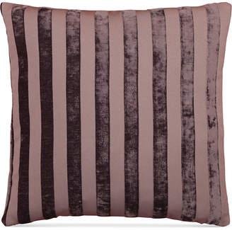 "Hallmart Collectibles LAST ACT! Hallmart Collectibles Purple Stripe Jacquard 18"" Square Decorative Pillow"