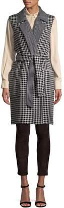 Max Mara Women's Wool and Cashmere Elettra Check Vest