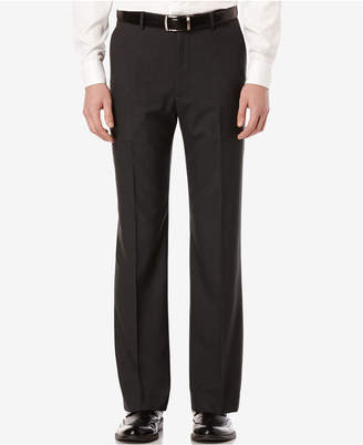 Perry Ellis Men's Mini-Check Flat Front Classic-Fit Dress Pants