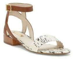 Louise et Cie Alessa Leather Snake Print Sandals