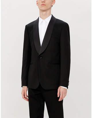 Sandro Shawl-lapel regular-fit wool-blend tuxedo jacket
