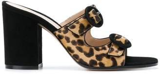 Gianvito Rossi leopard strappy mules