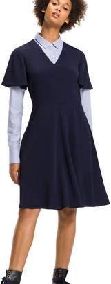 Tommy Hilfiger Fit And Flare V-Neck Dress