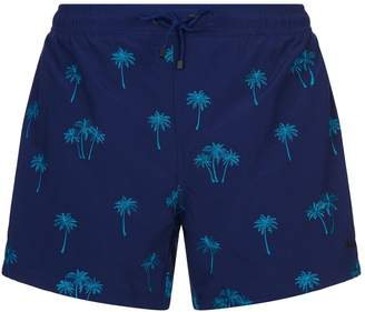 BOSS GREEN Embroidered Palm Swim Shorts