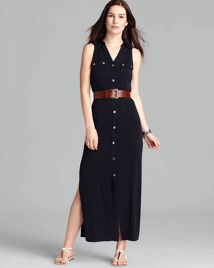 MICHAEL Michael Kors Maxi Shirt Dress