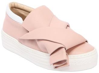 N°21 Leather Slip-On Sneakers