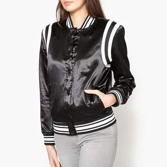 Maison Scotch Press-Stud Jacket with Embroidery and Patches