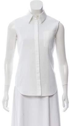 Balenciaga Sleeveless Button-Up Top