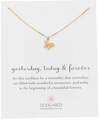 Dogeared Yesterday Today Forever Butterfly Pendant Necklace