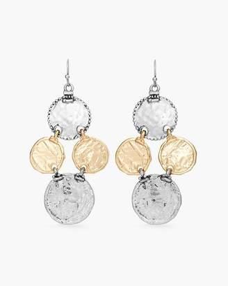 Mixed-Metal Coin Drop Chandelier Earrings