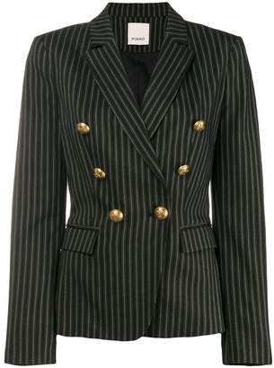 Pinko fitted pinstripe blazer