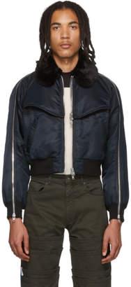 Sankuanz Black Zipper Bomber Jacket
