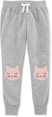 Carter's Big Girls Cat-Print Jogger Pajama Pants