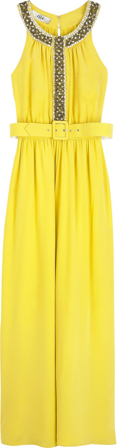 Tibi Bead embellished gown