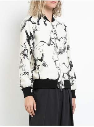 ADAM by Adam Lippes Printed Wool And Silk Reversible Bomber Jacket