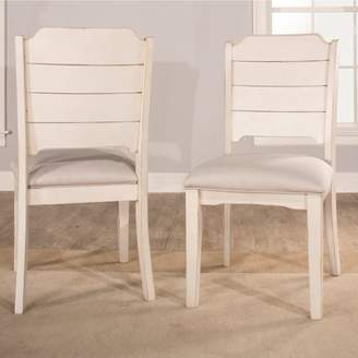 Hillsdale Furniture Clarion Dining Chair, Set of 2, Sea White