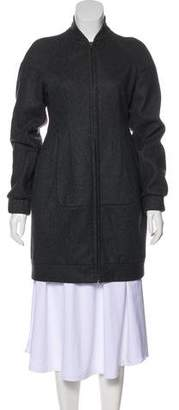 Miu Miu Wool Zip-Up Coat