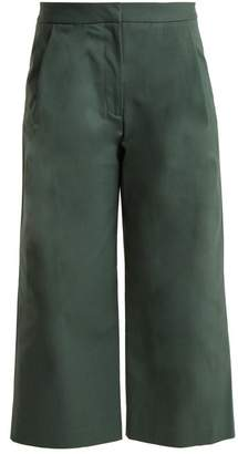 ADAM by Adam Lippes High Waisted Stretch Cotton Culottes - Womens - Green