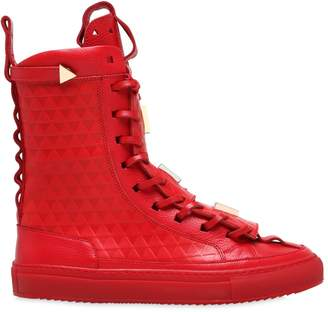Limited Edition Leather Sneaker Boots