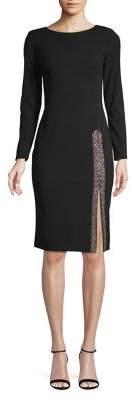 Calvin Klein Long-Sleeves Sheath Dress