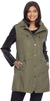 Apt. 9 Women's Hooded Faux-Leather Jacket