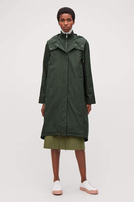 Cos PADDED COLLAR-LAYERED PARKA