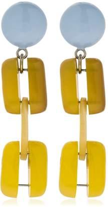 Marni Horn Chain Clip-On Earrings